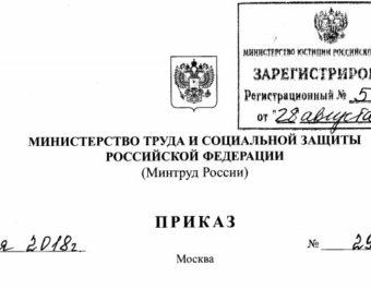В новой редакции утверждён Приказ Министерства труда и социальной защиты РФ N 298н